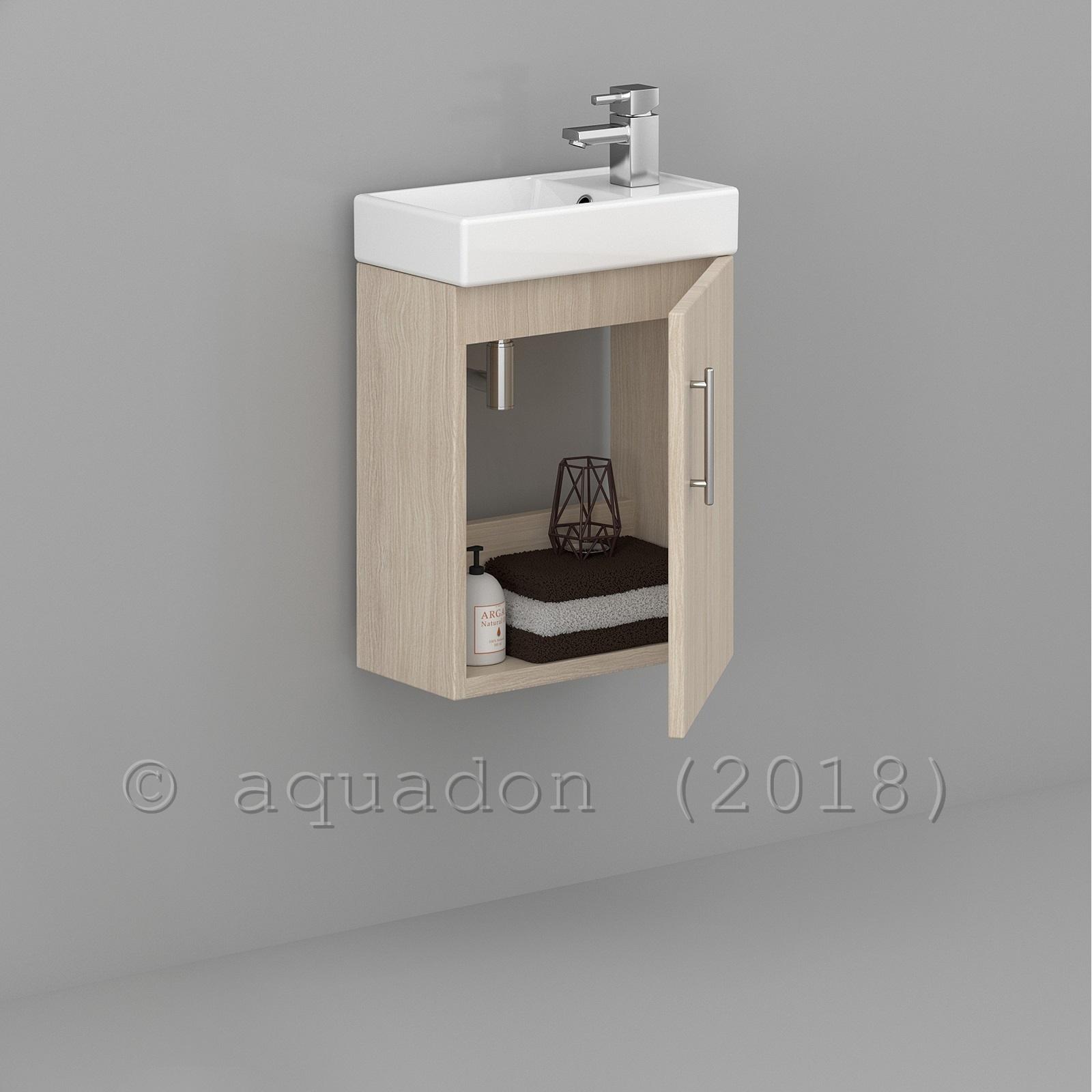 Minimalist Bathroom Items: Bathroom Cloakroom 400mm Minimalist Compact Vanity Unit