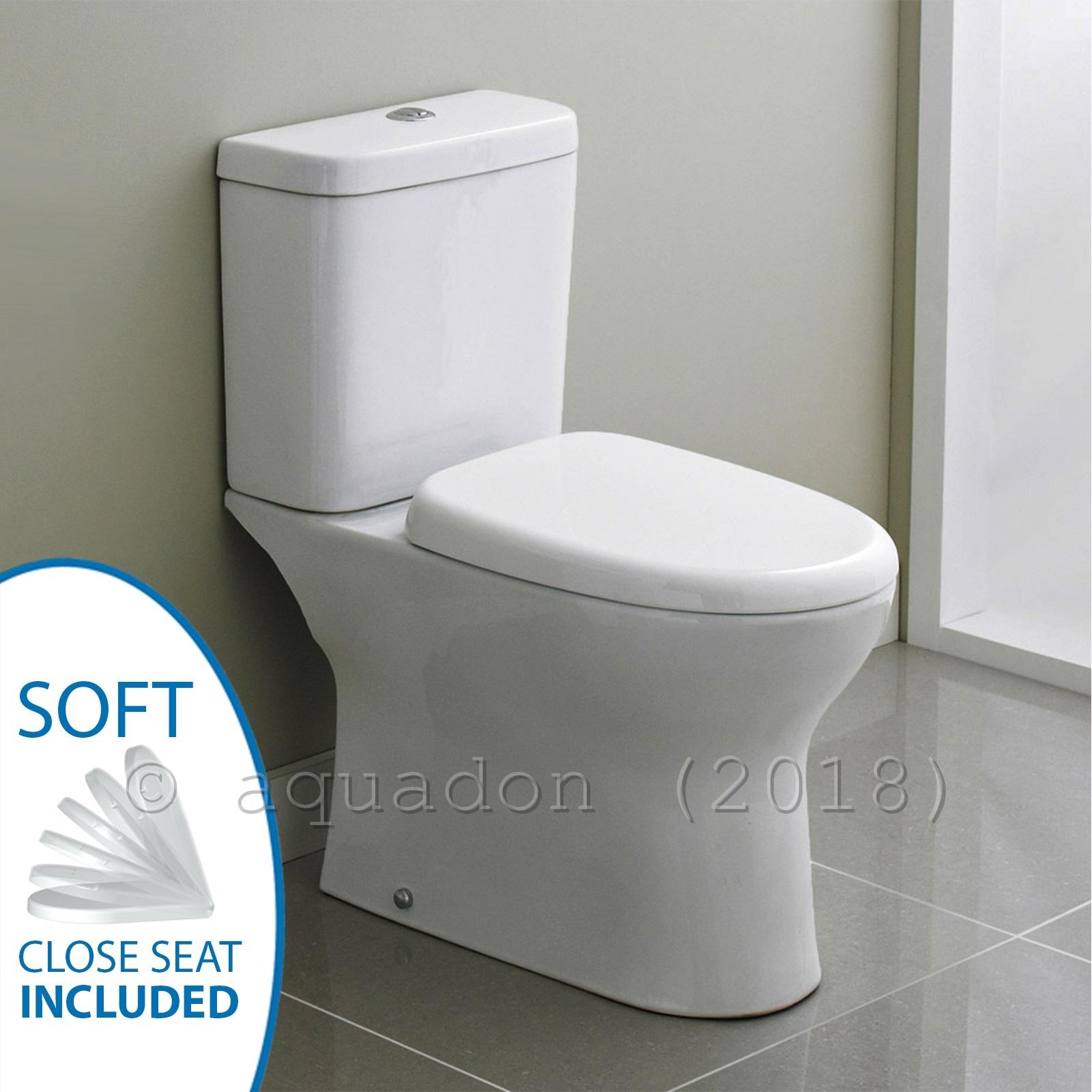 Premier Ultra Perth Bathroom Ceramic Modern Toilet Close Coupled WC ...