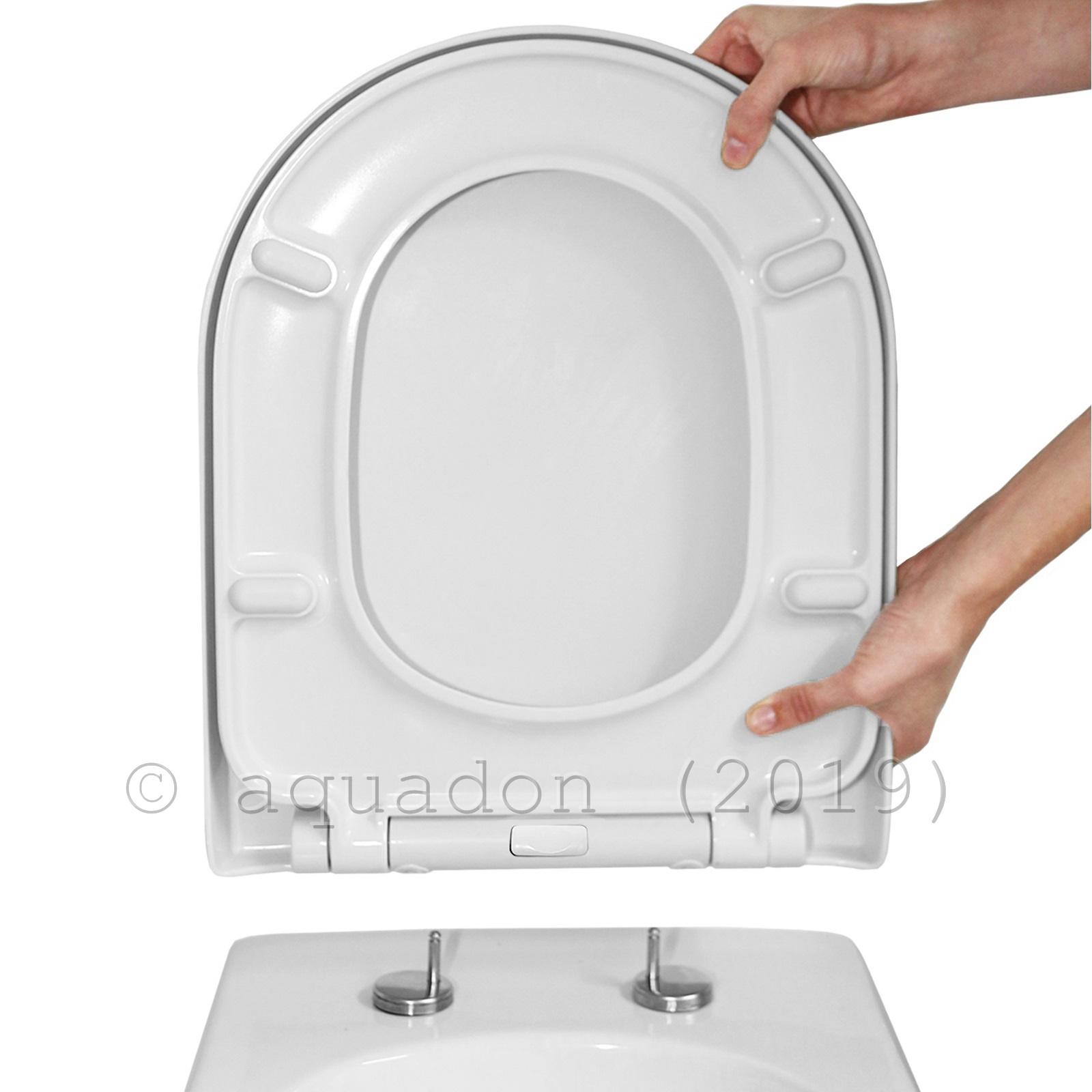 D Shape Luxury Top Fix Quick Release Soft Close Toilet