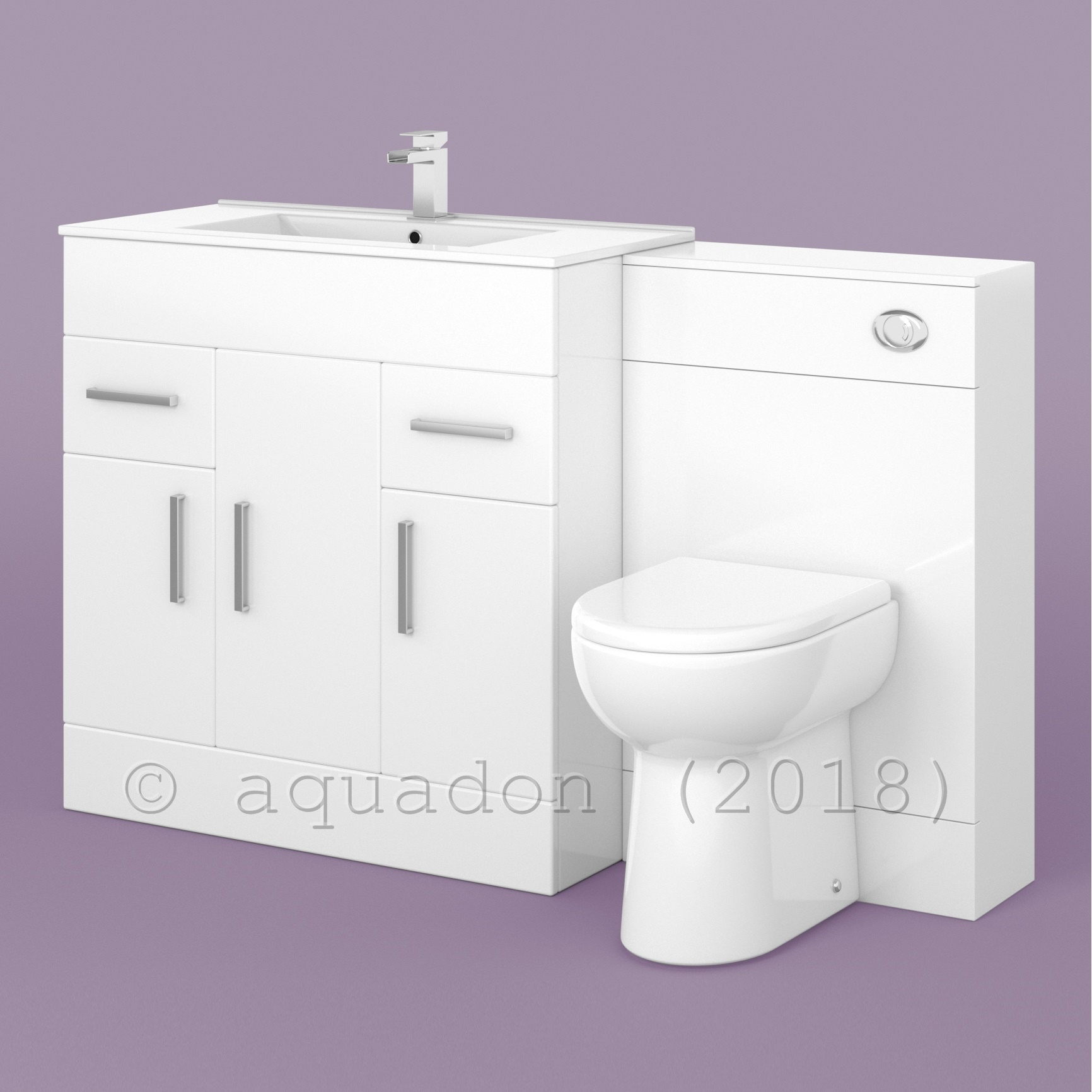 750mm White Vanity Unit Basin Sink And Toilet Bathroom Furniture Suite Turin Ebay