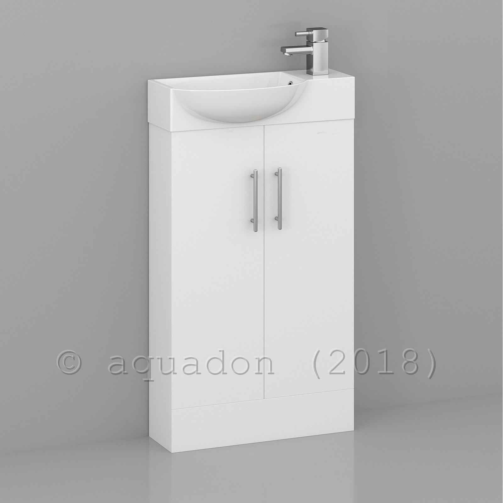 Bathroom Cloakroom 500mm Double Door Compact Storage