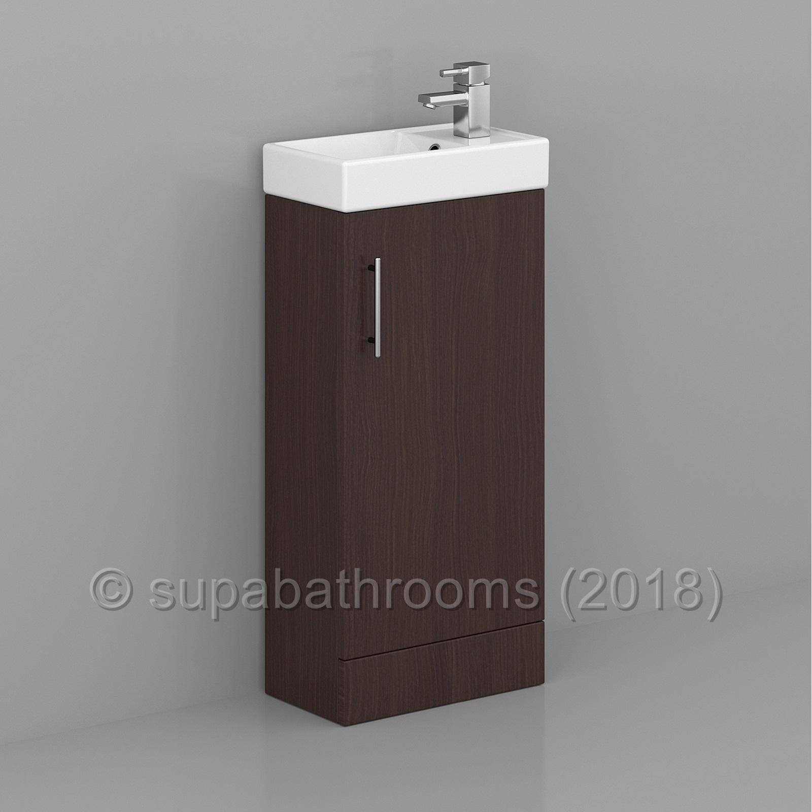 Minimalist Bathroom Vanity: Bathroom 400mm Minimalist Compact Vanity Unit & Basin