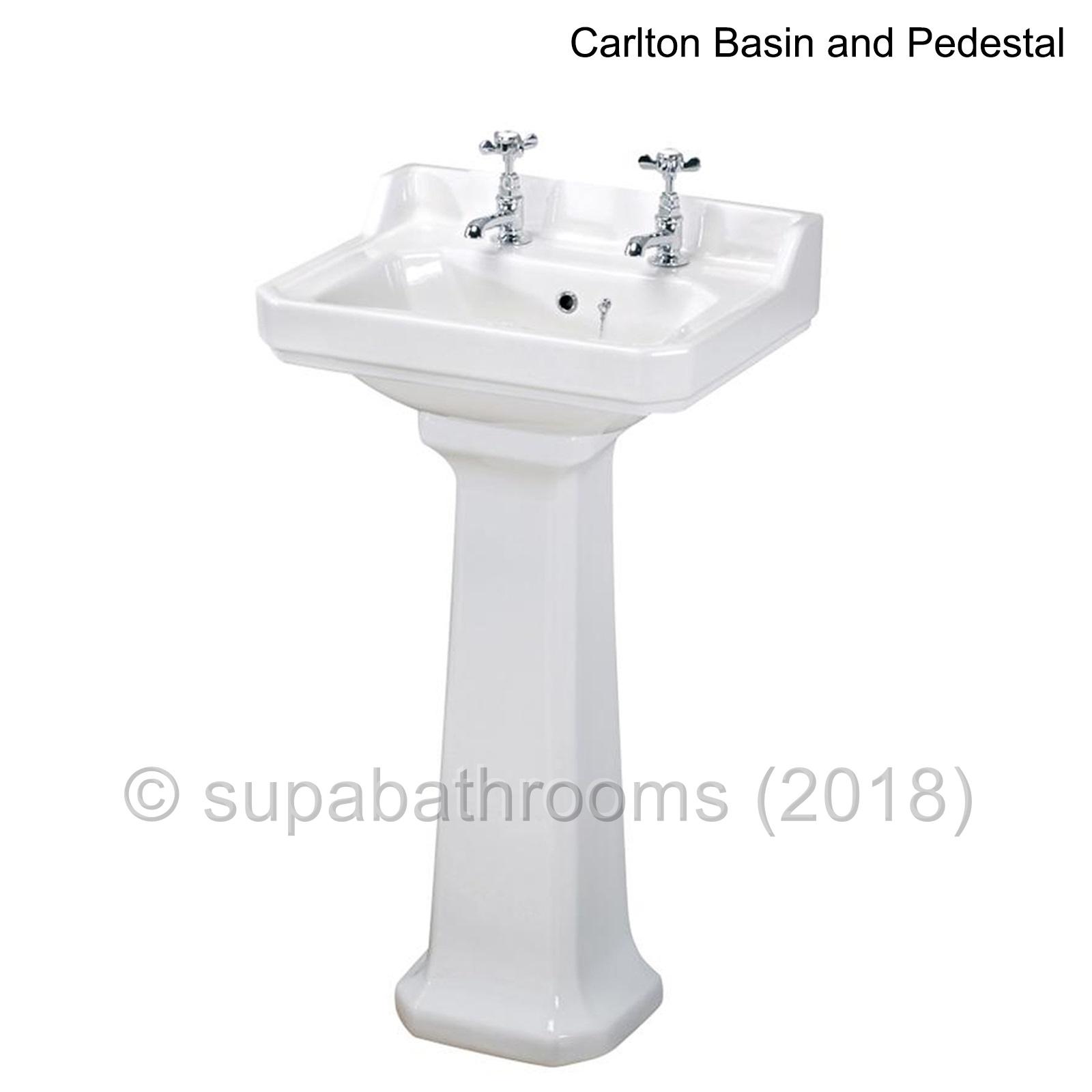Traditional Edwardian Bathroom Basin Sink Pedestal White