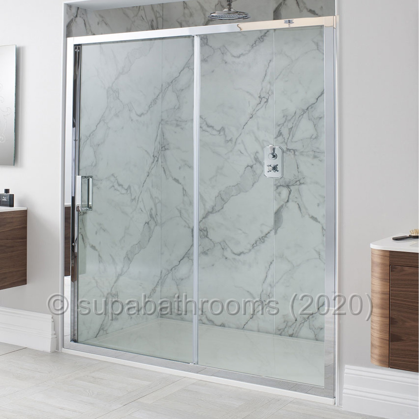 Quality Sliding Shower Enclosure Door Cubicle Side Panel Stone Tray ...
