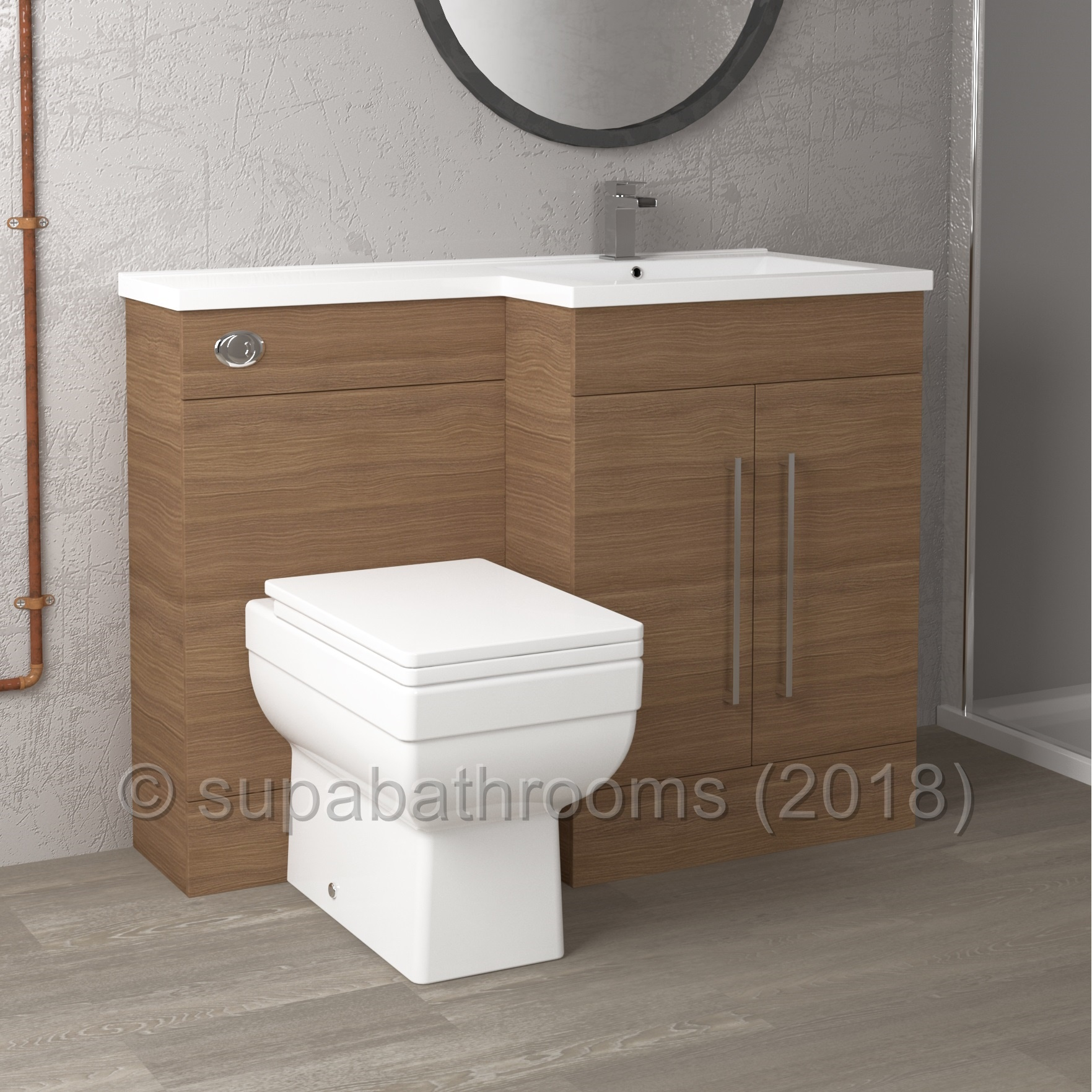 Bathroom Furniture Sets Home Kitchen With Form Tap 1100mm Bathroom Furniture Combination Set With Vanity Basin Cabinet Pan Cistern Pack Walnut Wc Toilet Unit