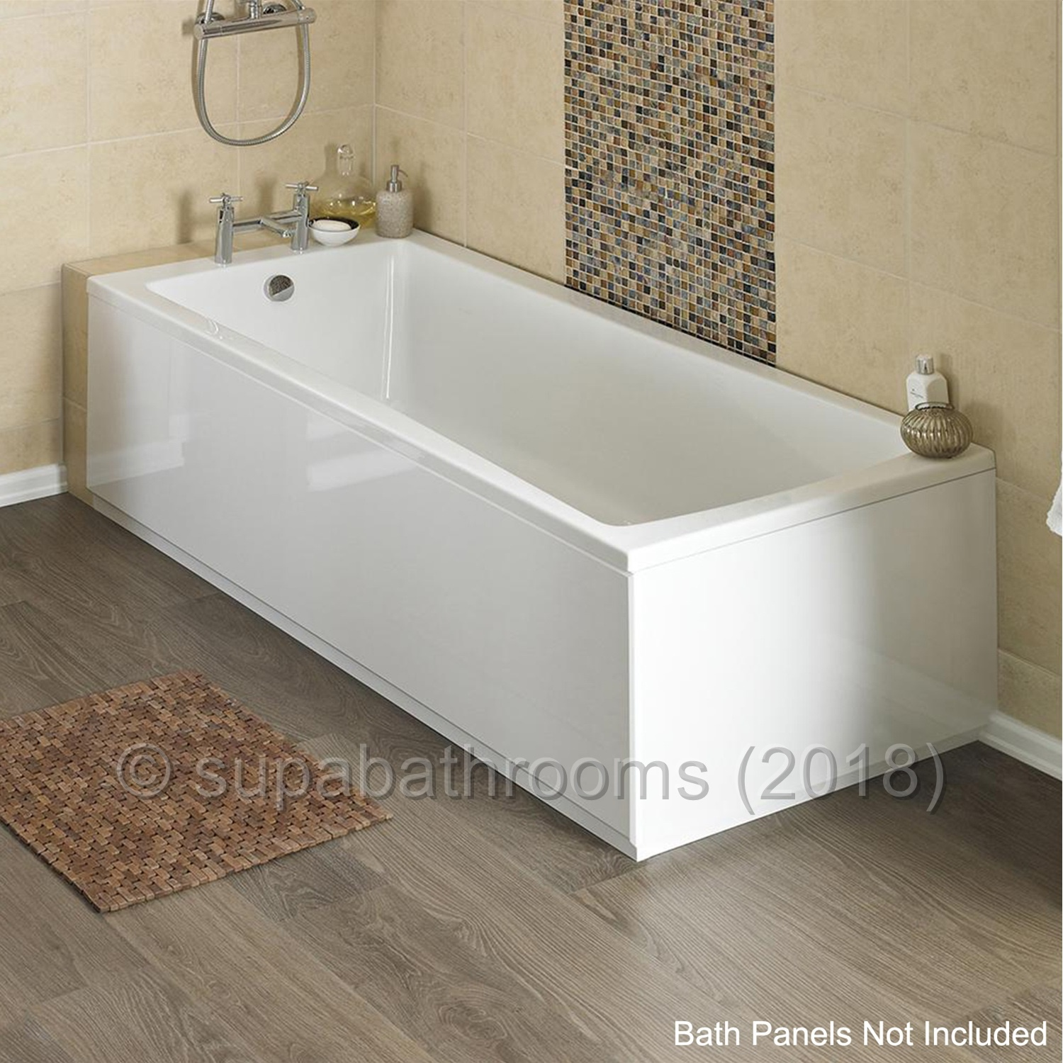 Linton 1700 x 750 Single Ended Fibreglass Encapsulated Base Acrylic ...