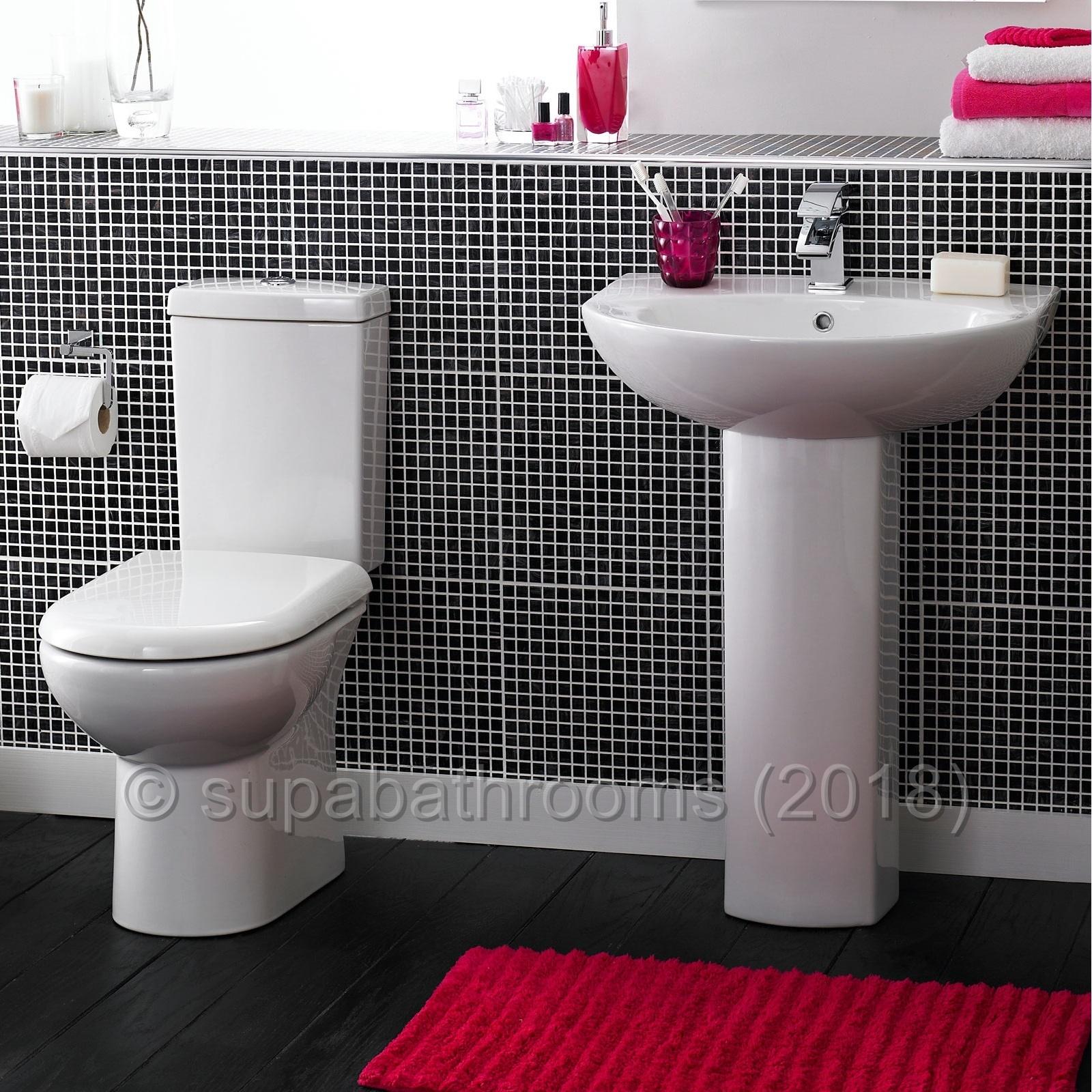 Short Projection 4 Piece Bathroom Toilet Suite Wc Basin