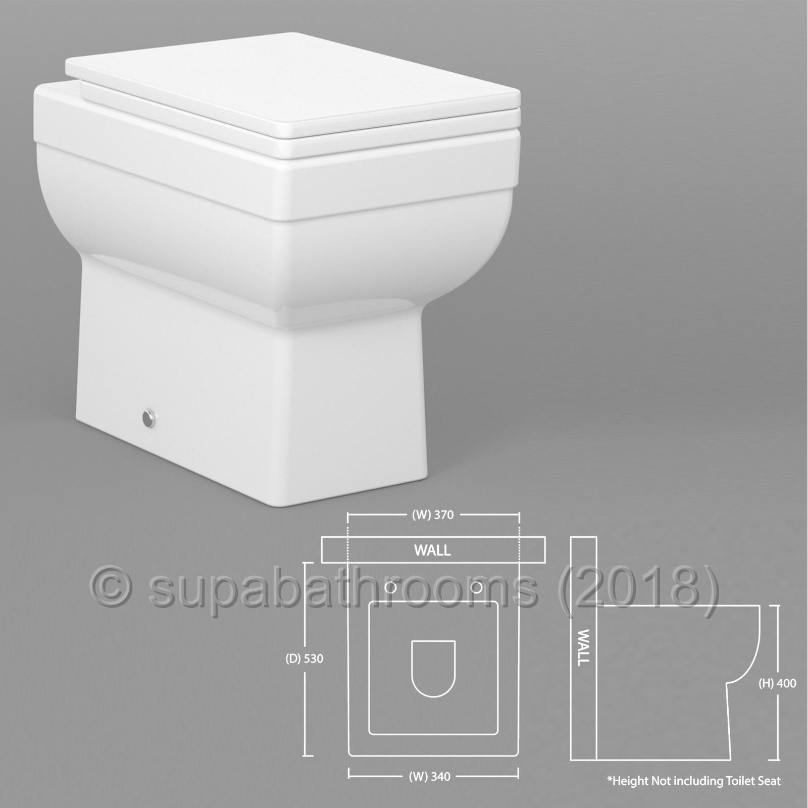 Bathroom Vanity Back To Wall Unit Wc Toilet Pan Cistern Seat